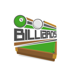 Logo for a pool billiards vector