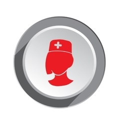 Medical hospital nurse doctor icon woman face vector