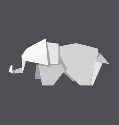 origami elephant concept background realistic vector image
