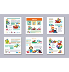 Set design template for print products - cleaning vector