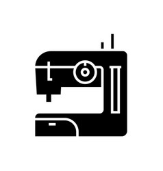 sewing machine icon black vector image