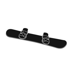 snowboardextreme sport single icon in black style vector image