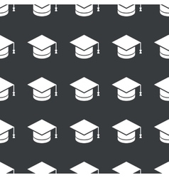 Straight black academic hat pattern vector