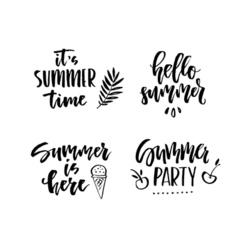 Unique Summer Lettering vector image vector image