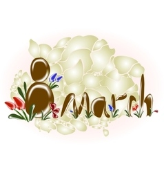 Womens day 8 march background EPS10 vector image
