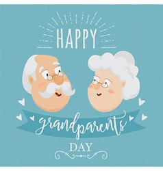Happy grandparents day poster vector