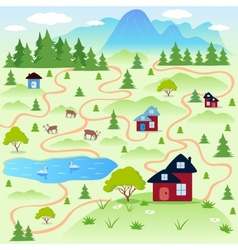 Nature map vector