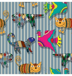 Seamless childlike drawing pattern vector