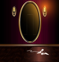 mirror and shoes vector image
