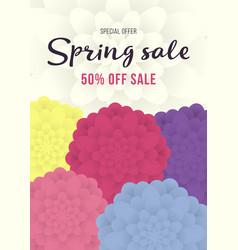 spring sale banner sale poster sale flyer with vector image