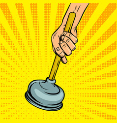 plunger pop art style vector image