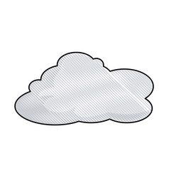 Drawing cloud space climate heaven vector