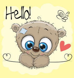 Cute drawing teddy vector
