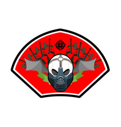 Military emblem paintball logo army sign skull in vector