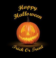 Halloween black background with pumpkin vector