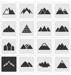 Icon of mountains2 vector