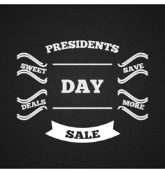 Presidents day sale typography vector