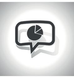 Curved diagram message icon vector