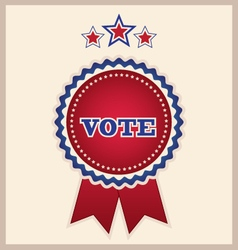 Red election ribbon and stars design element vector
