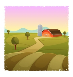 Farm landscape vector