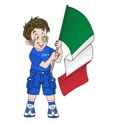 Fan with flag of italy vector