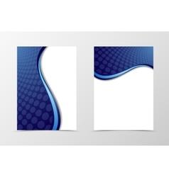 Grid flyer template design vector image