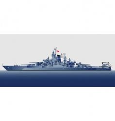 battleship uss tennessee vector image