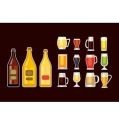 Beer glass set vector image