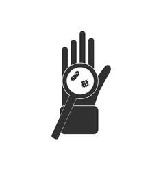 Black icon on white background laboratory vector