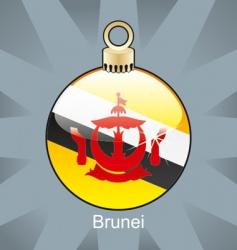 Brunei flag on bulb vector image vector image