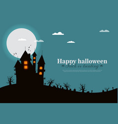 castle horror on top of the mountain happy vector image vector image