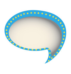 Chat bubble of communication dialogue vector