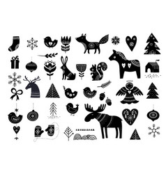 Christmas hand-drawn elements vector