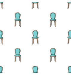 Classical chair icon in cartoon style isolated on vector
