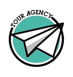 Color vintage tour agency emblem vector