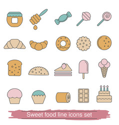Dessert and sweet icon set dessert and sweet icon vector