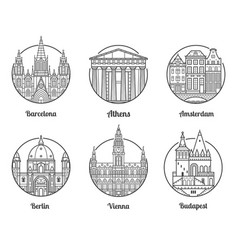 europe travel destinations vector image