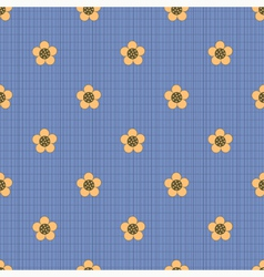 Floral pattern on a dark blue background vector image