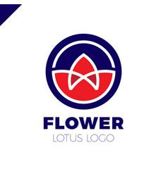 flower lotus logo circle cosmetic or spa vector image vector image