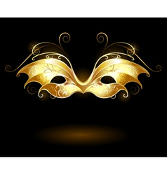 golden mask vector image vector image