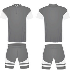 Gray cycling jersey vector