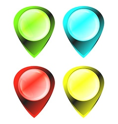 green blue red yellow glowing glossy blank tags on vector image vector image