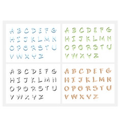 Hand drawn abc letters or alphabet letters set vector