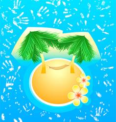 last paradise in the world vector image vector image