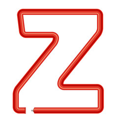 letter z plastic tube icon cartoon style vector image