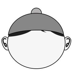 Little asian boy icon vector