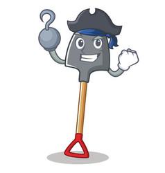 Pirate shovel character cartoon style vector