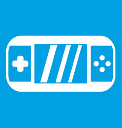 Portable video game console icon white vector