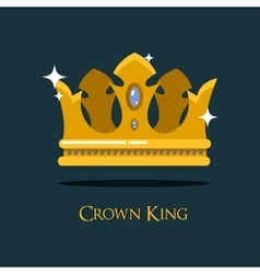 Queen or king gold diadem royal crown vector