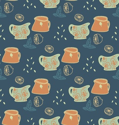 Retro Pitches seamless pattern vector image